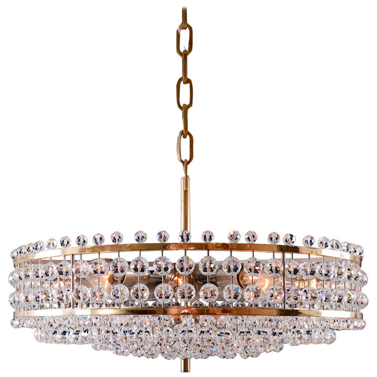 Mid century modern, vintage Bakalowits Crystal Chandelier  For Sale