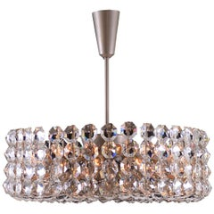 Very Large Mid Century Modern Bakalowits Crystal Chandelier from the 1960