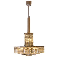 Original Elegant Mid Century Modern Bakalowits Chandelier from the 1960s