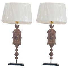 Pair of Gilt Table Lamps