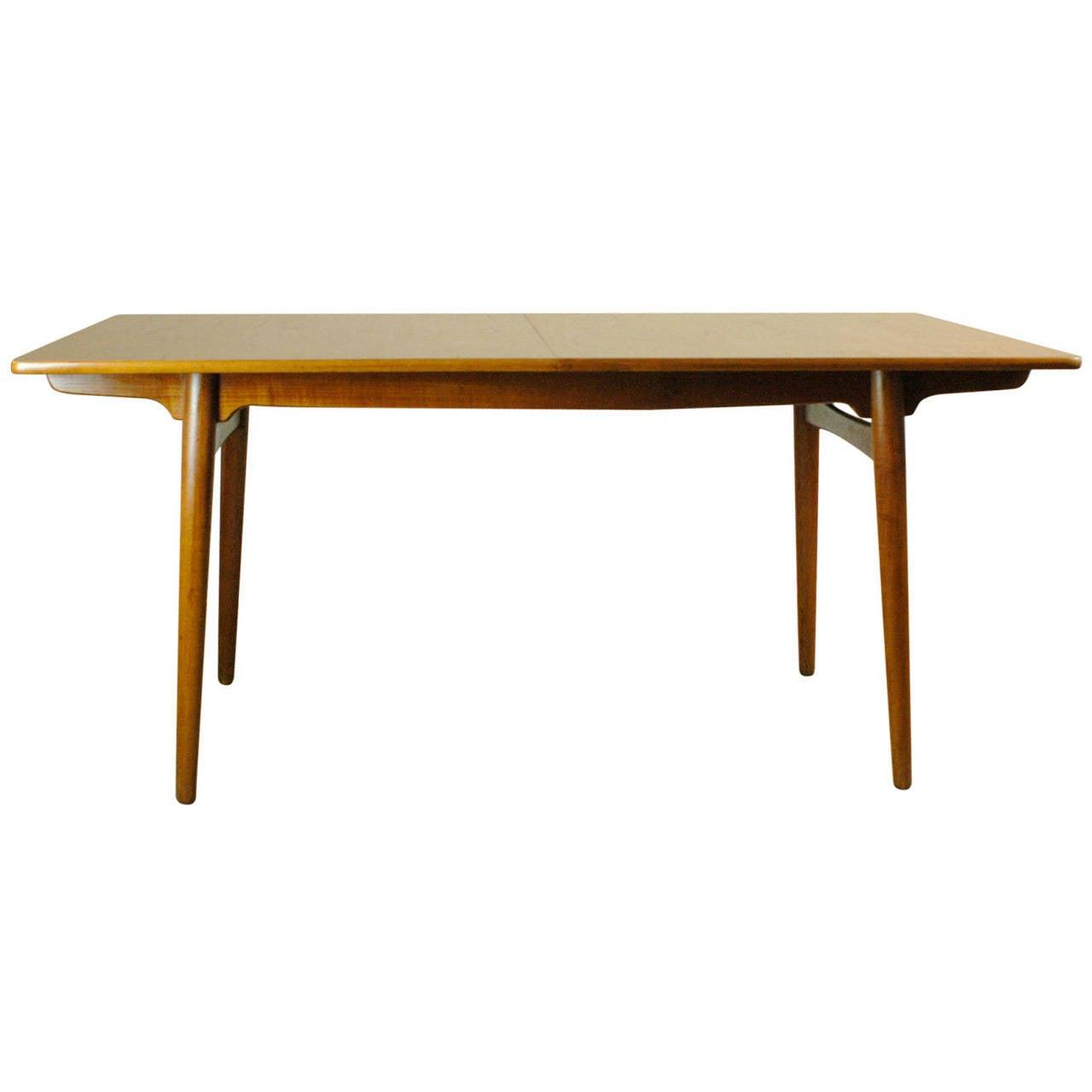 Danish Teak Extension Dining Table By Hans J Wegner At 1stdibs