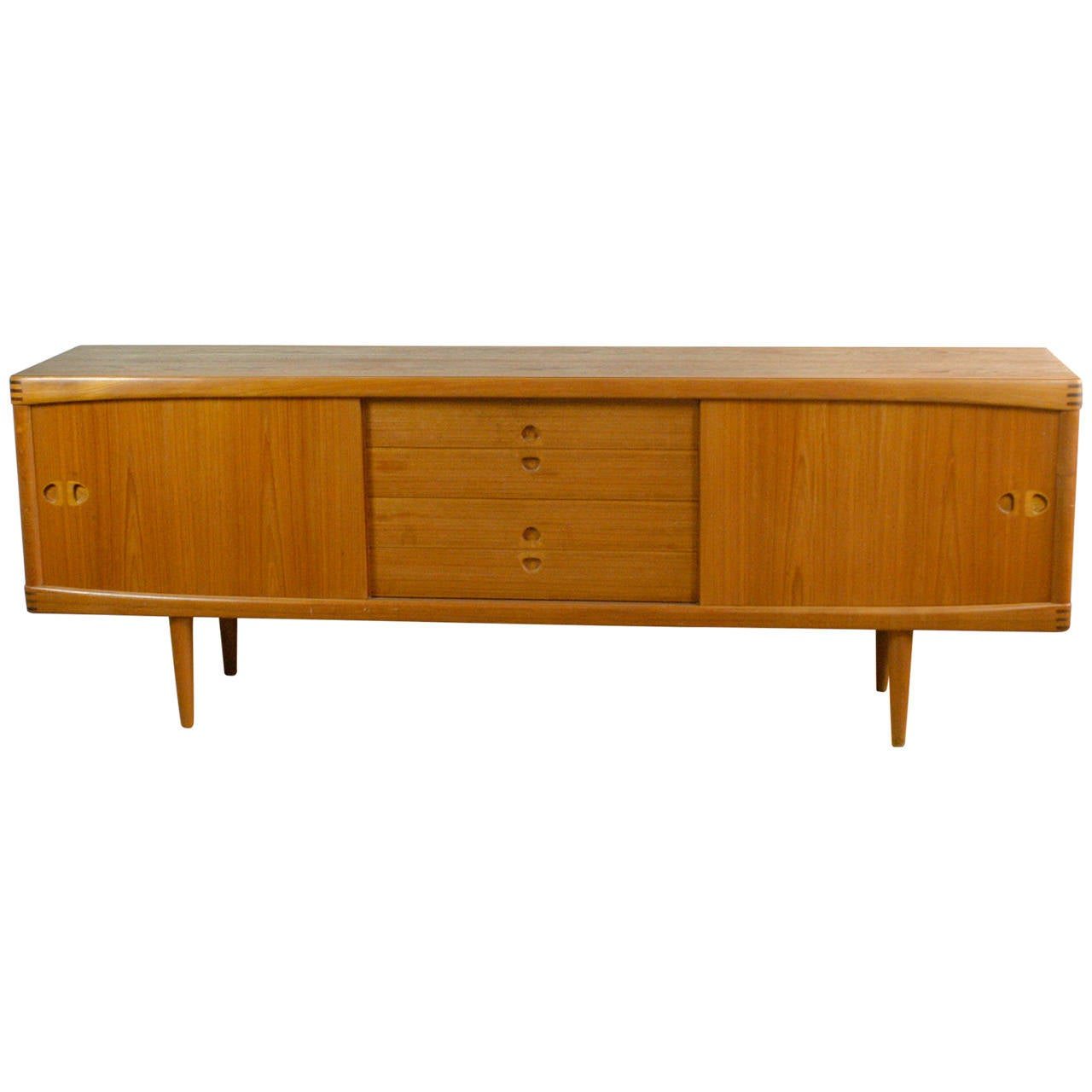 danish 1960s teak sideboard by h w klein for bramin at. Black Bedroom Furniture Sets. Home Design Ideas