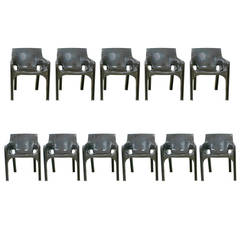 "Set of 8 ""Gaudi"" Armchairs by Vico Magistretti for Artemide"