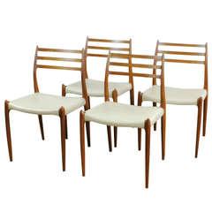 Set of Four Möller Mod 78 Dining Chairs