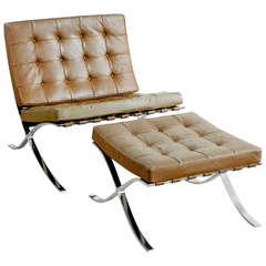 Barcelona Chair with Ottoman