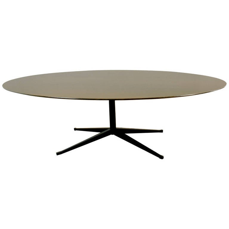 Oval Florence Knoll Dining Table at 1stdibs