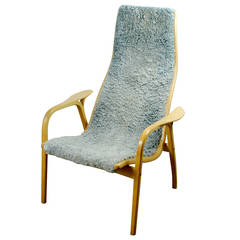 """Vintage Highback """"Lamino"""" Chair by Yngve Ekstrom"""