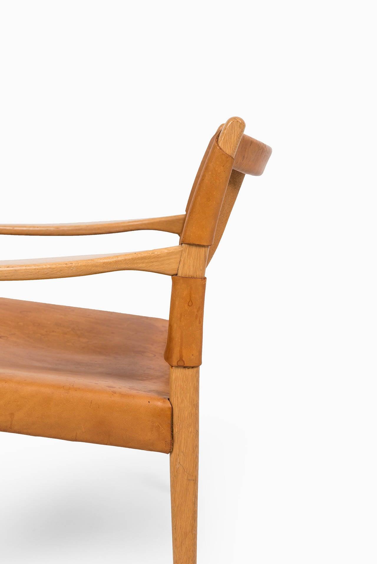 Mid-Century Modern Per-Olof Scotte easy chairs model Premiär produced in Sweden