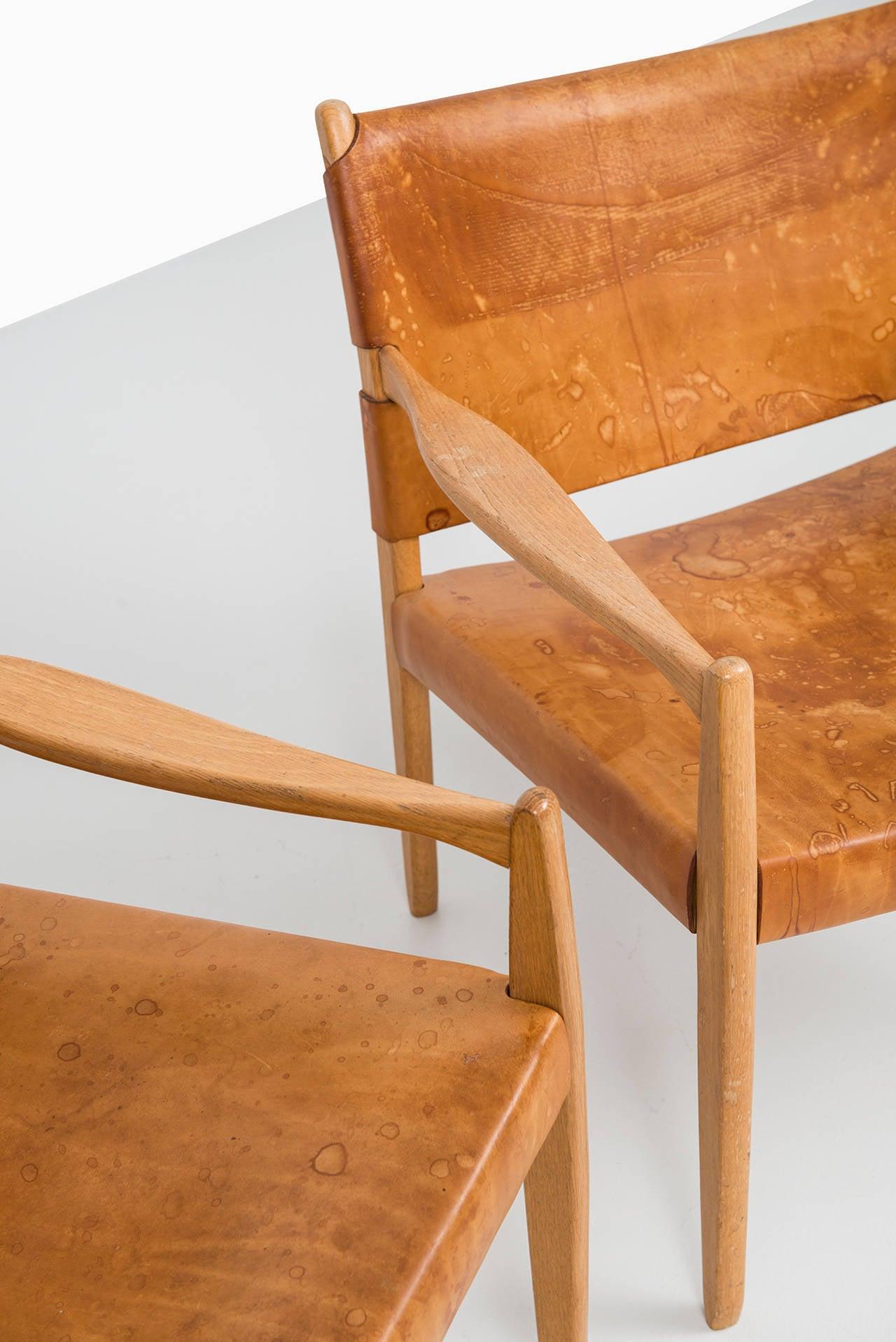 Per-Olof Scotte easy chairs model Premiär produced in Sweden 1