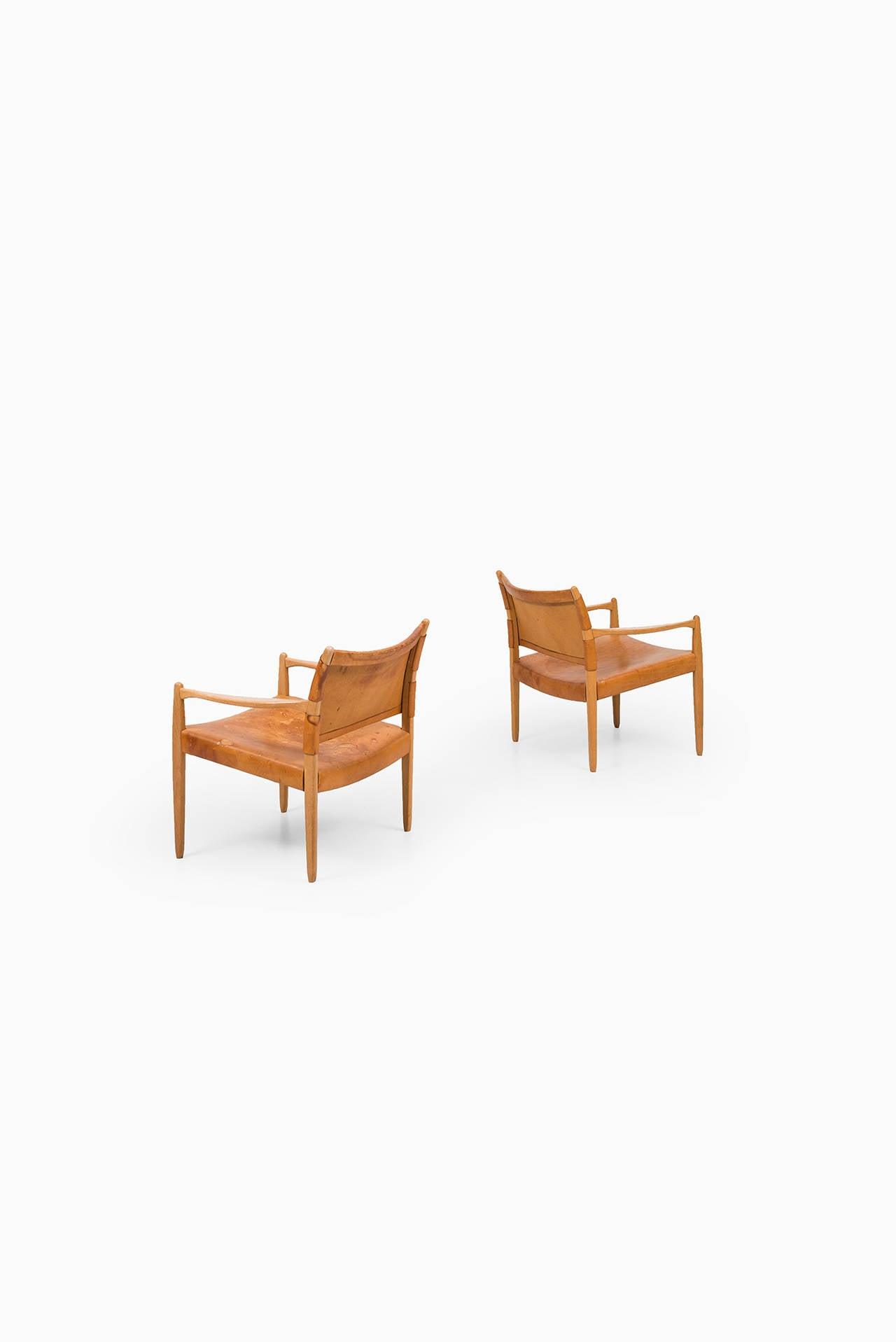 Per-Olof Scotte easy chairs model Premiär produced in Sweden 2