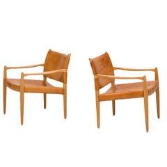 Per-Olof Scotte easy chairs model Premiär produced in Sweden