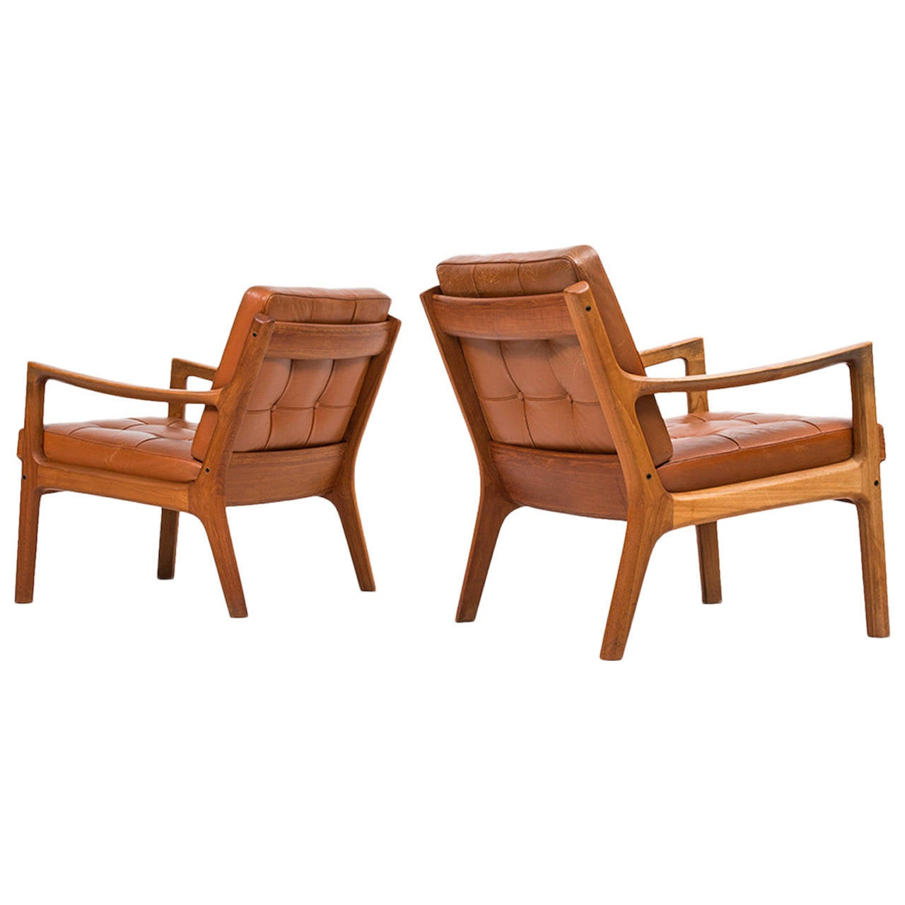 Ole Wanscher Senator easy chairs by France & Son in Denmark