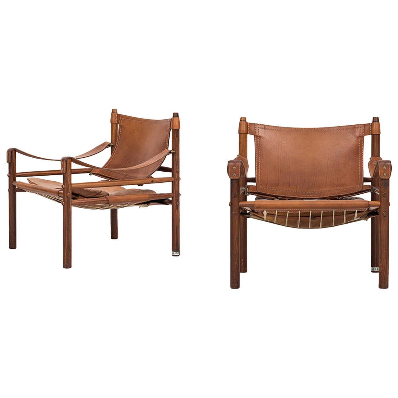 Arne Norell Sirocco Easy Chairs in Rosewood by Arne Norell AB in Sweden For Sale