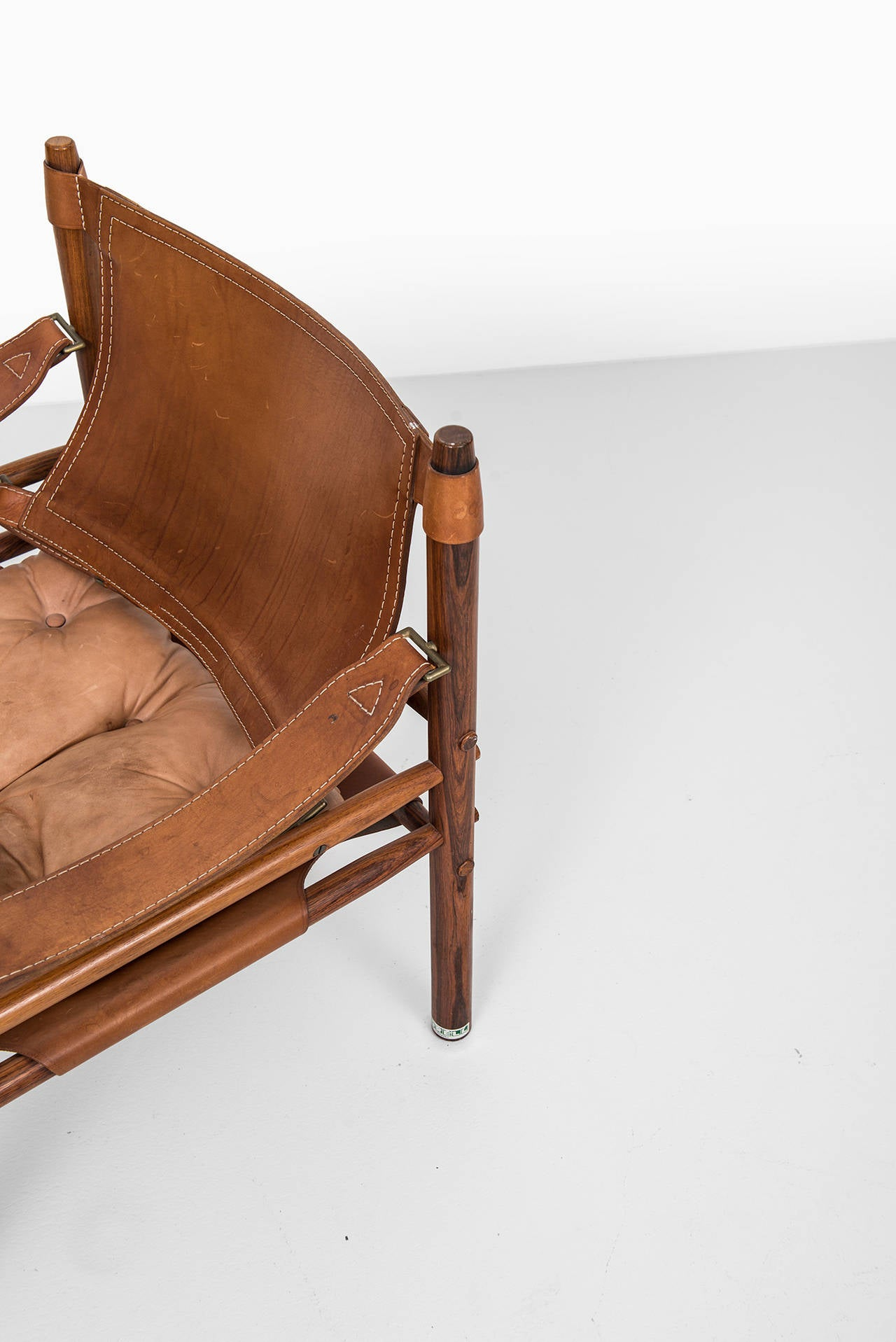 Arne Norell Sirocco Easy Chairs in Rosewood by Arne Norell AB in Sweden In Excellent Condition For Sale In Malmo, SE