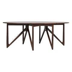 Kurt Østervig Gate Leg Dining Table by Jason Møbler in Denmark