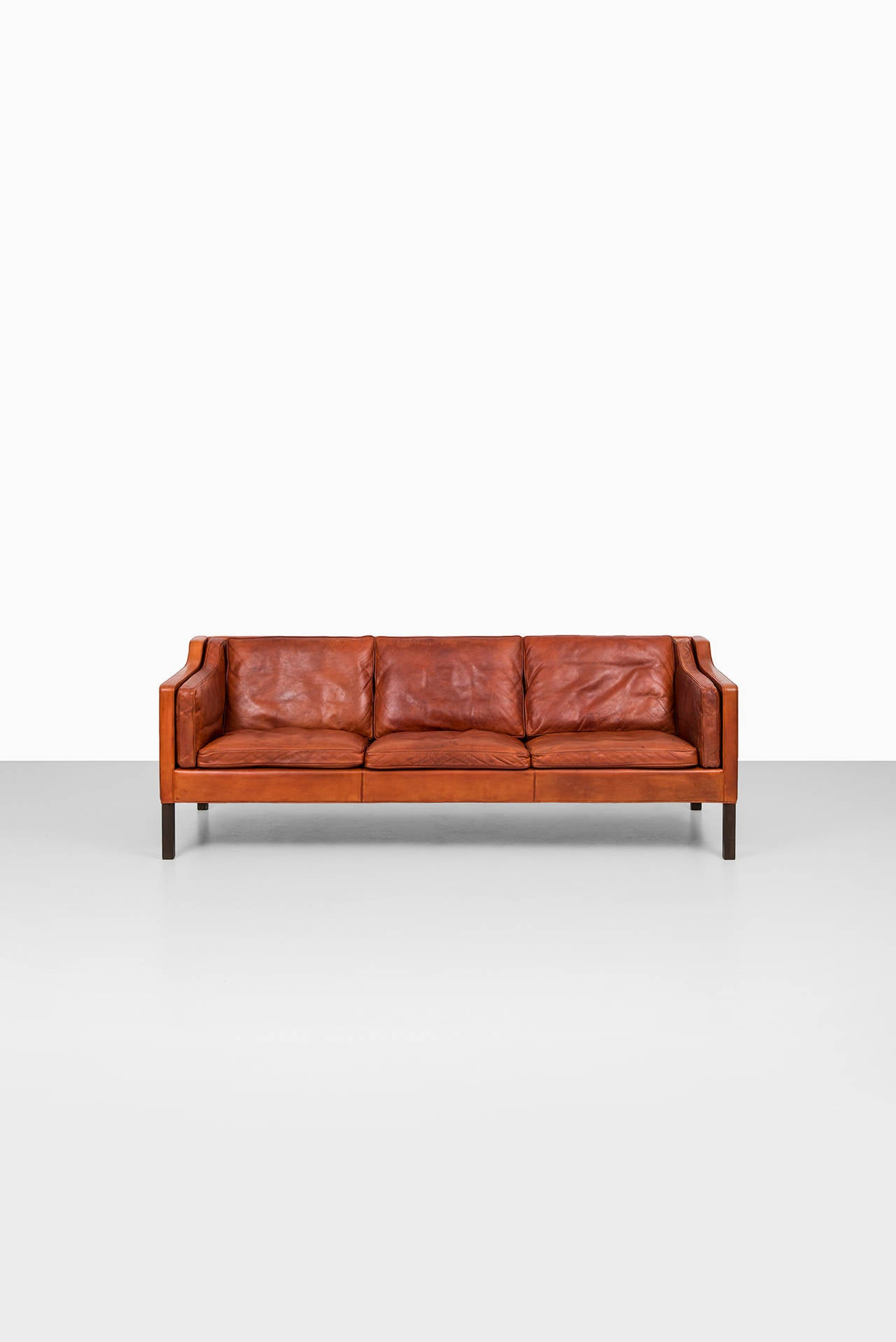 B¸rge Mogensen 2213 Leather Sofa by Fredericia Stolefabrik in