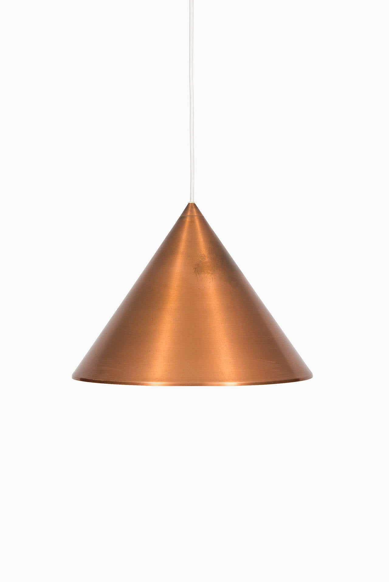 Mid century ceiling lamp in copper by lyfa in denmark for for Mid century ceiling lamp