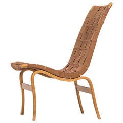 Bruno Mathsson Easy Chair, Model Eva by Karl Mathsson in Sweden