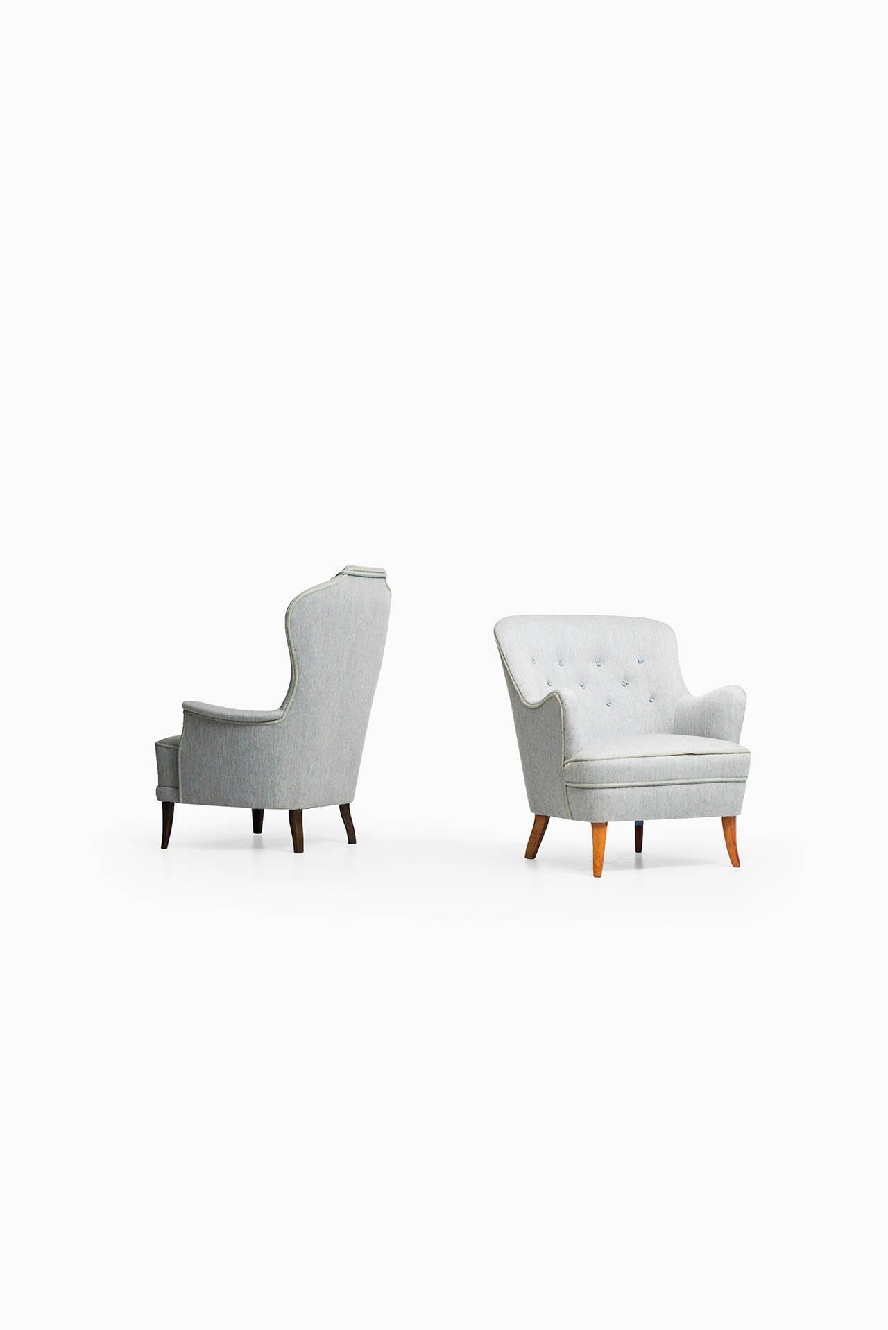 Carl Malmsten Easy Chair by O.H Sjögren in Sweden For Sale 2