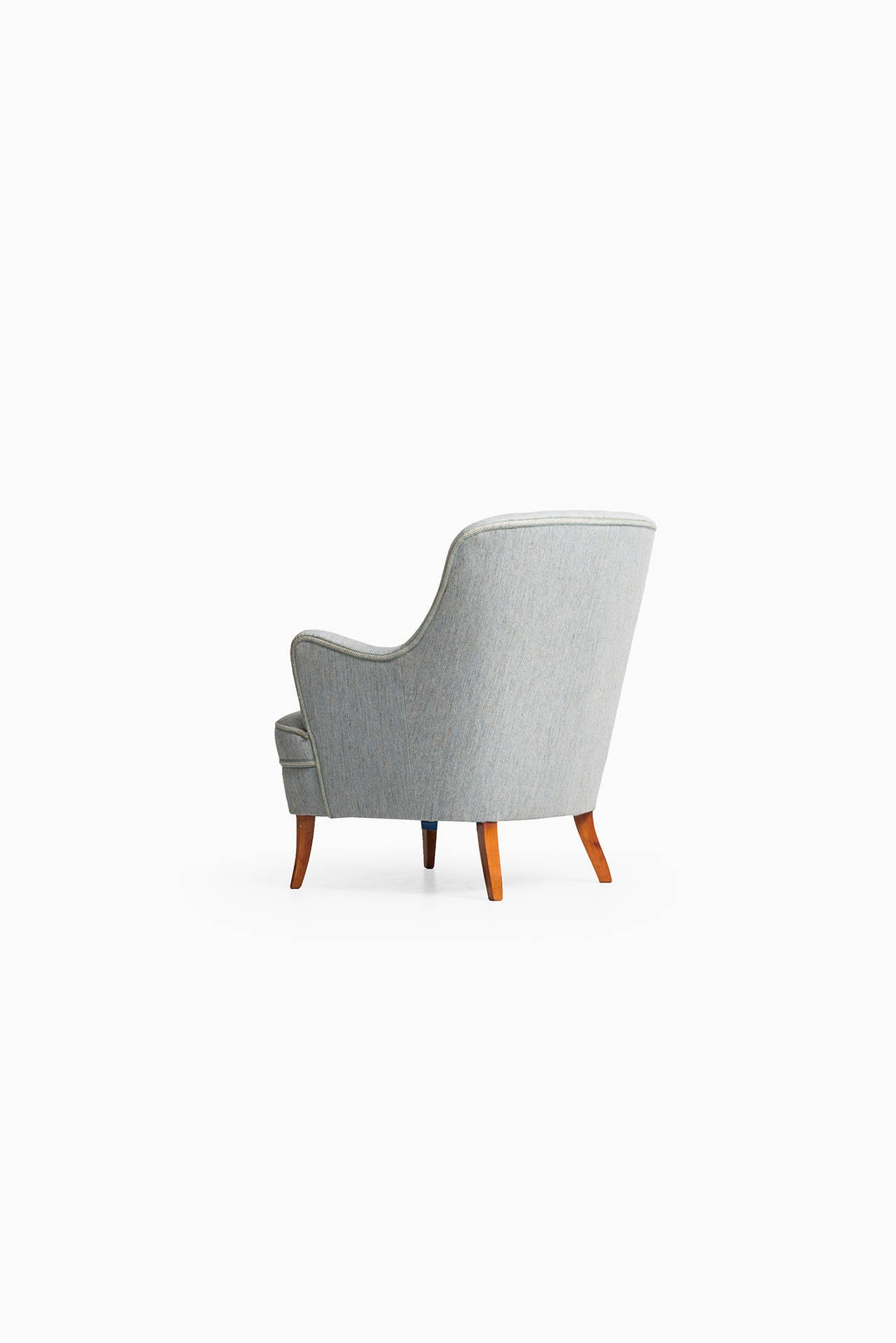 Swedish Carl Malmsten Easy Chair by O.H Sjögren in Sweden For Sale