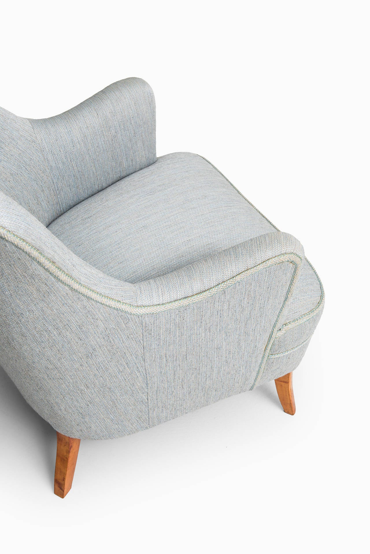 Carl Malmsten Easy Chair by O.H Sjögren in Sweden In Excellent Condition For Sale In Malmo, SE