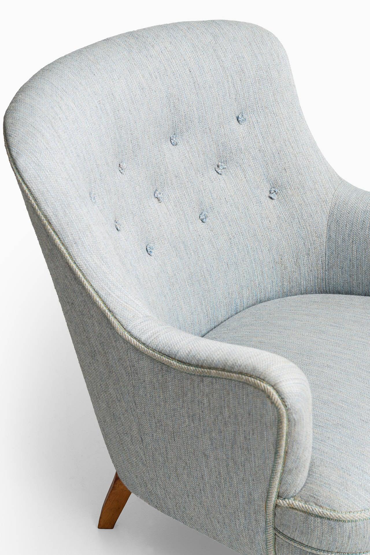 Mid-20th Century Carl Malmsten Easy Chair by O.H Sjögren in Sweden For Sale