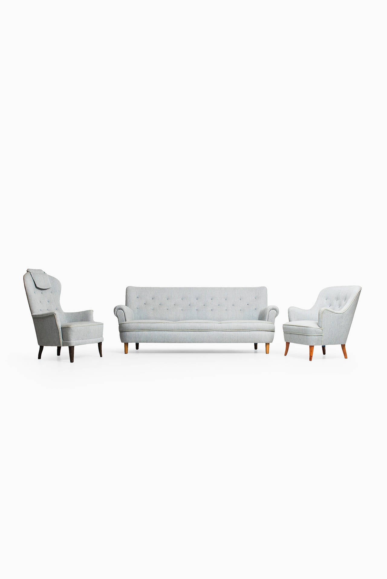 Carl Malmsten Easy Chair by O.H Sjögren in Sweden For Sale 1