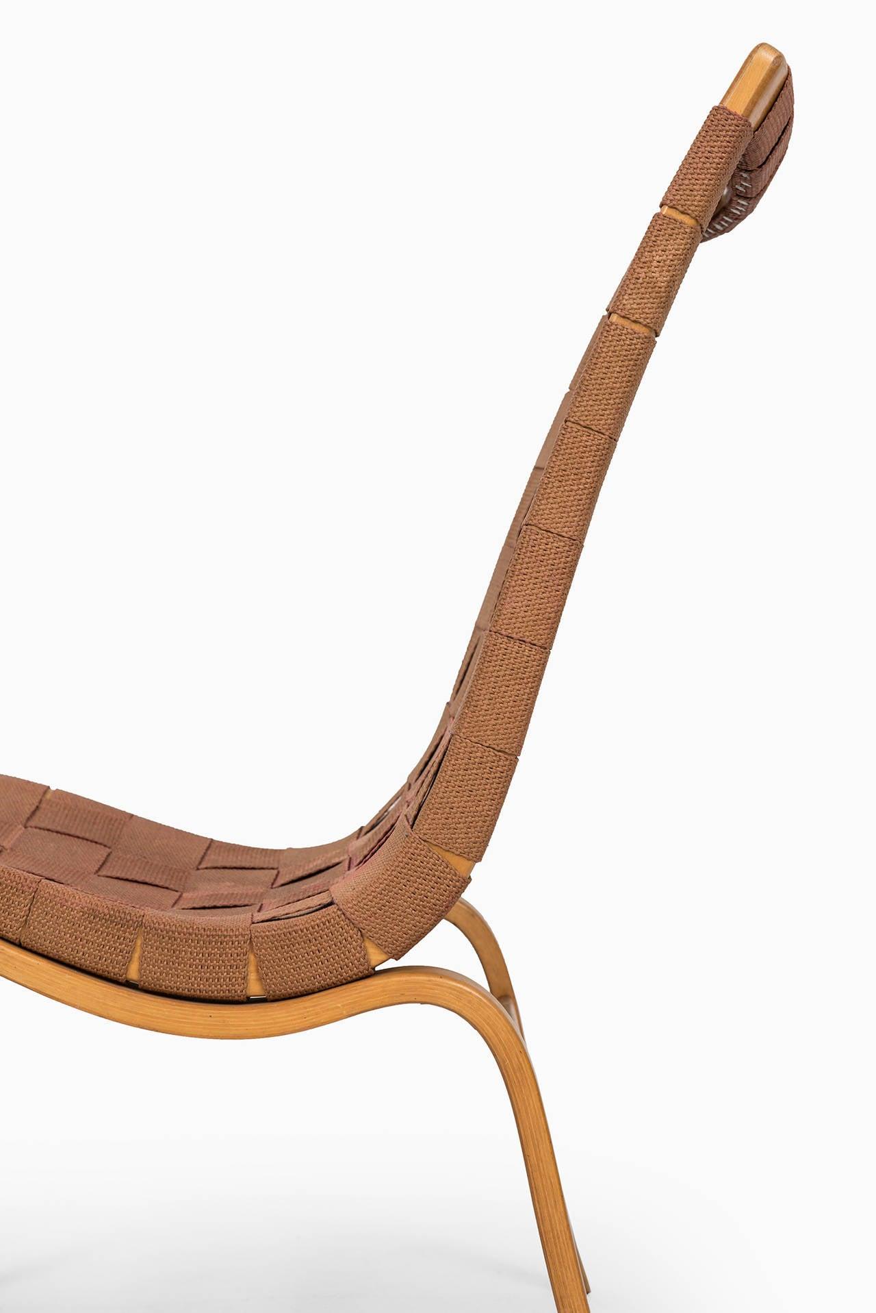 Bruno Mathsson Easy Chair Model Eva by Karl Mathsson in Sweden