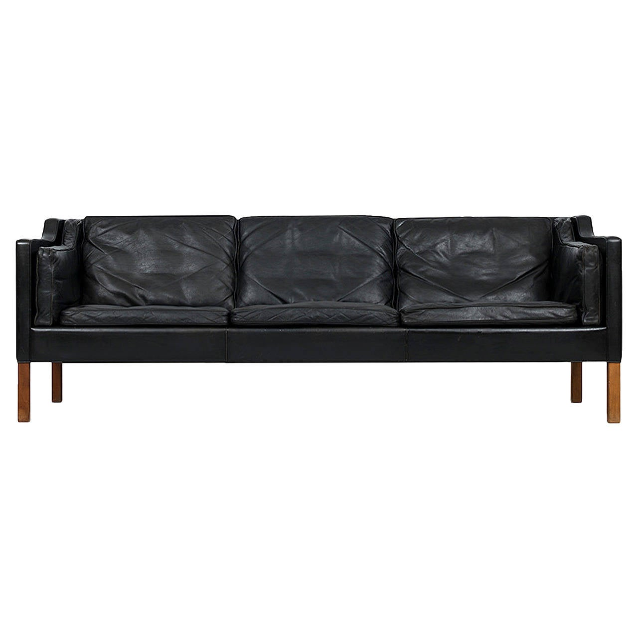 Børge Mogensen 2213 Leather Sofa By Fredericia Stolefabrik In Denmark For