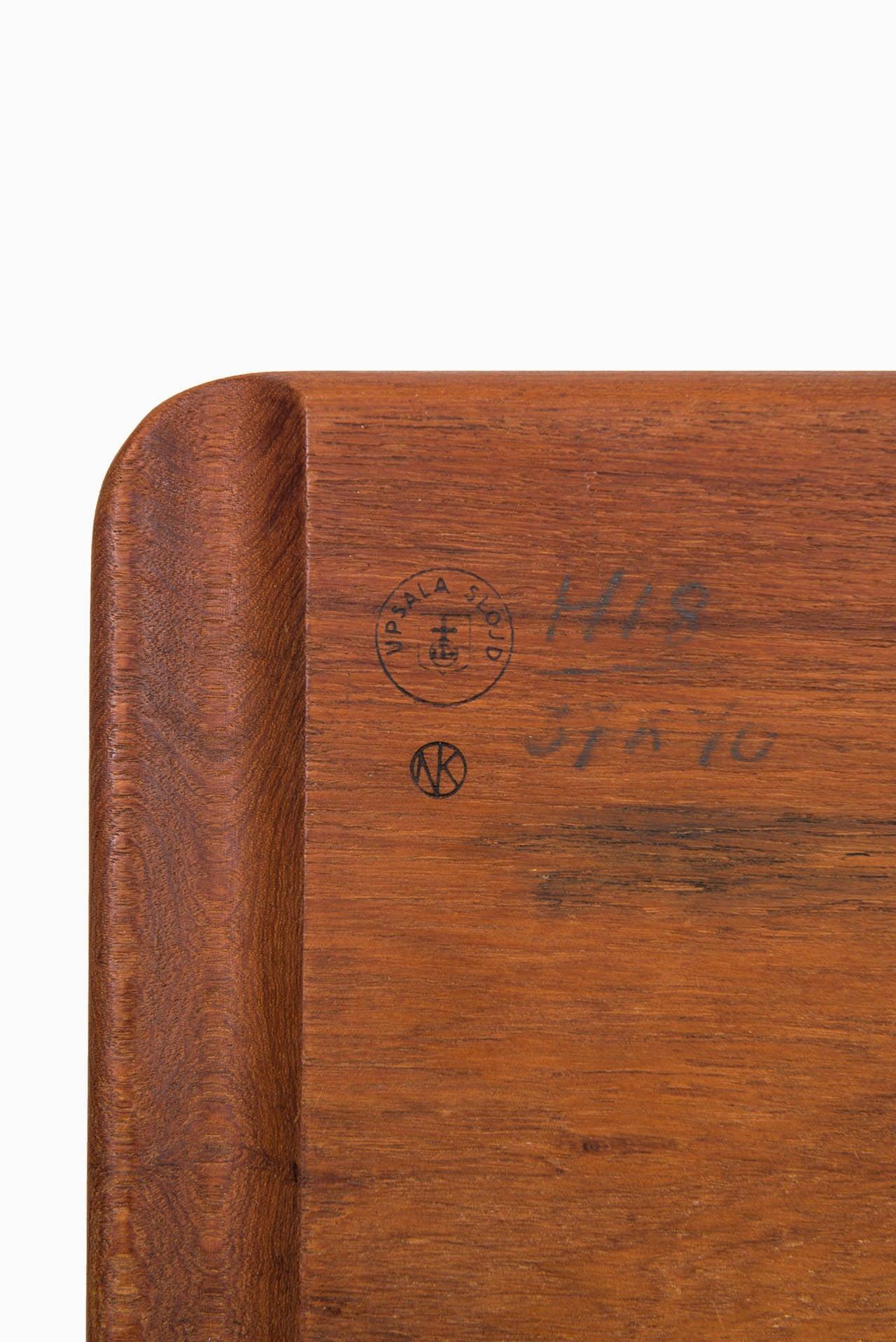 Mid Century 1950/'s Teak Johnny Mattsson For Upsala Slojd Wood Serving Tray Made In Sweden