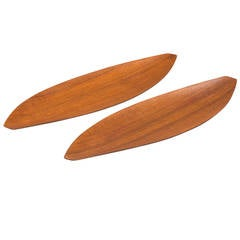 Shigemichi Aomine Trays in Teak by N.C.C. in Japan