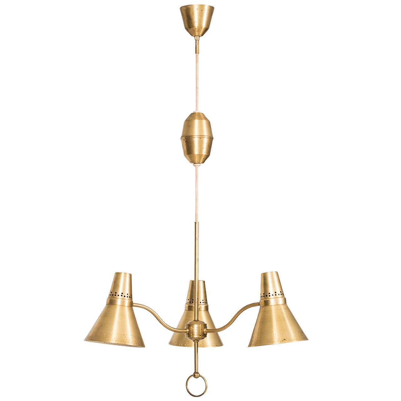 Height Adjustable Led Pendant Light Drop: Height Adjustable Ceiling Lamp In Brass By AB E. Hansson