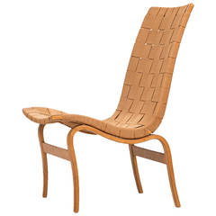 Bruno Mathsson Easy Chair Produced by Karl Mathsson in Värnamo, Sweden