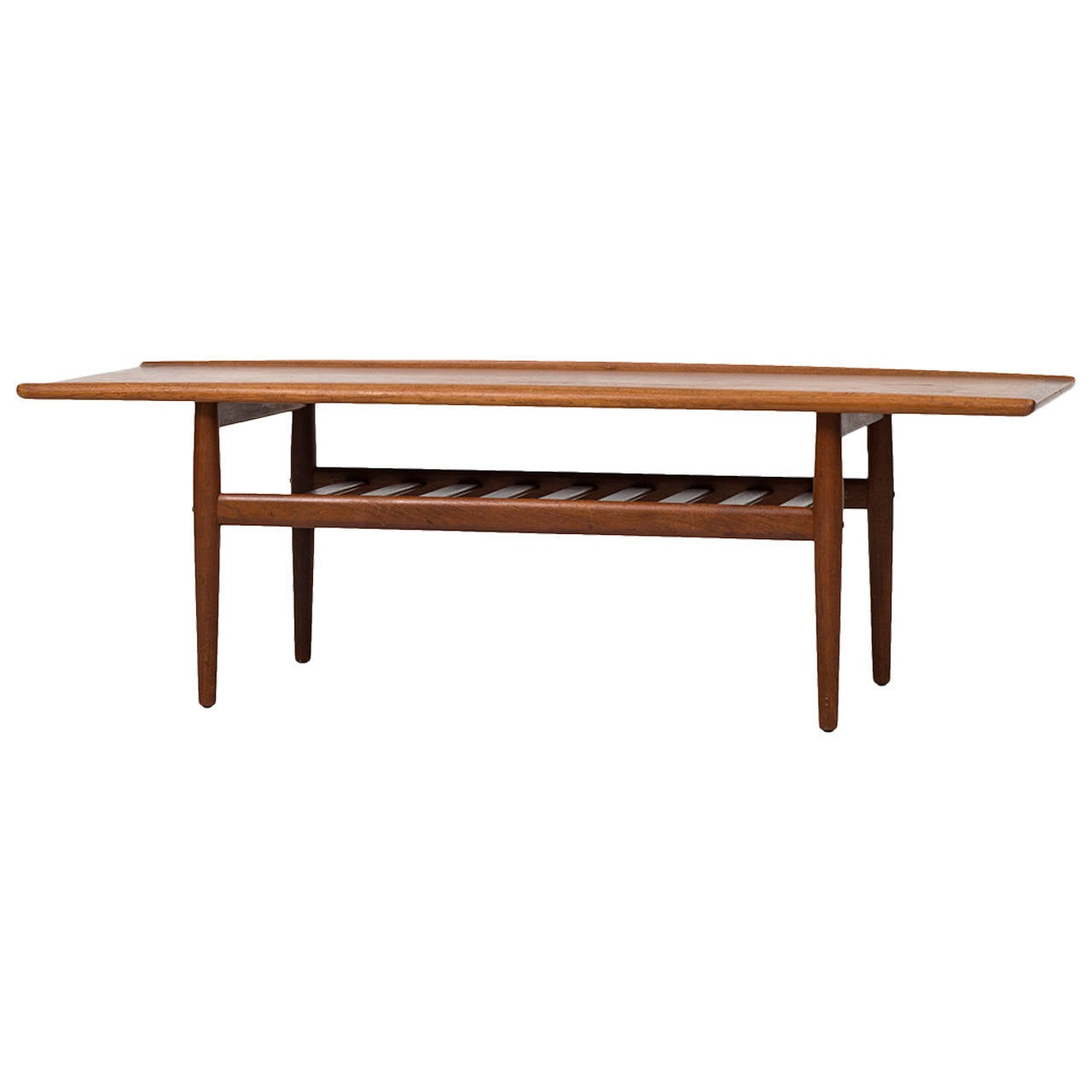 Grete Jalk Coffee Table in Teak by Glostrup Møbelfabrik in Denmark For Sale