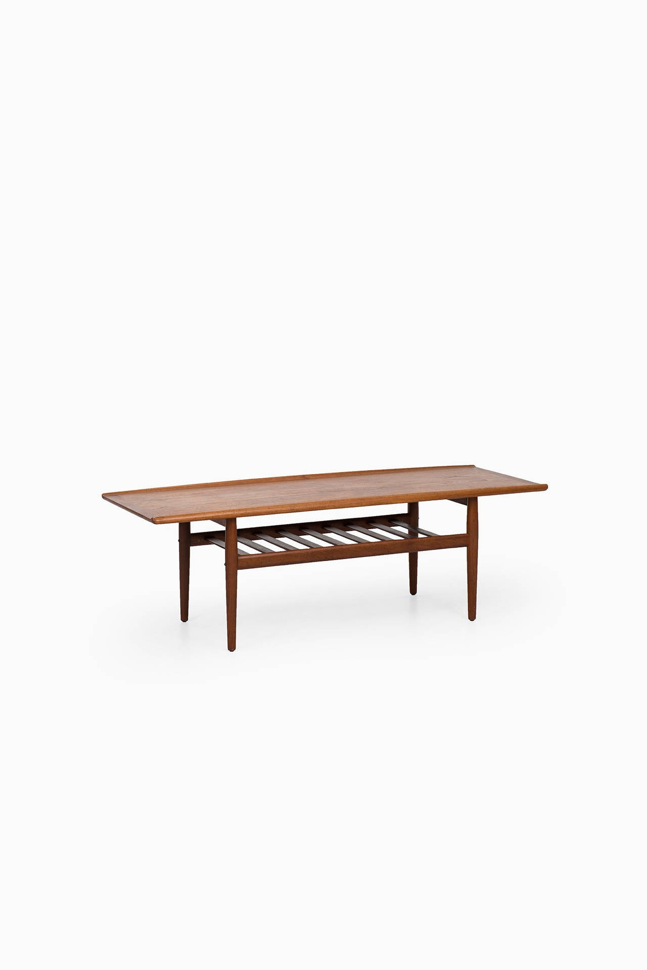 Grete Jalk Coffee Table in Teak by Glostrup Møbelfabrik in Denmark For Sale 1