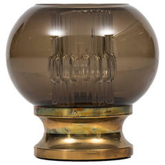 Carl Fagerlund Table Lamp in Brass and Glass by Orrefors in Sweden