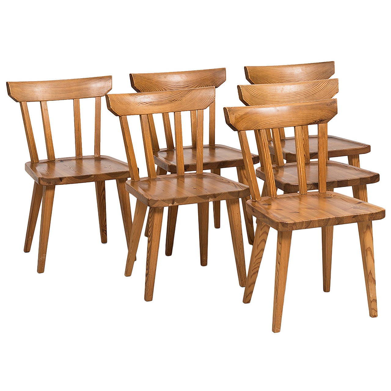 Carl Malmsten Dining Chairs In Pine By Karl Andersson U0026 Söner In Sweden 1