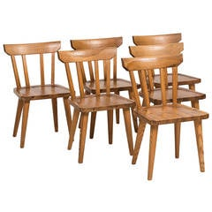 Carl Malmsten Dining Chairs in Pine by Karl Andersson & Söner in Sweden