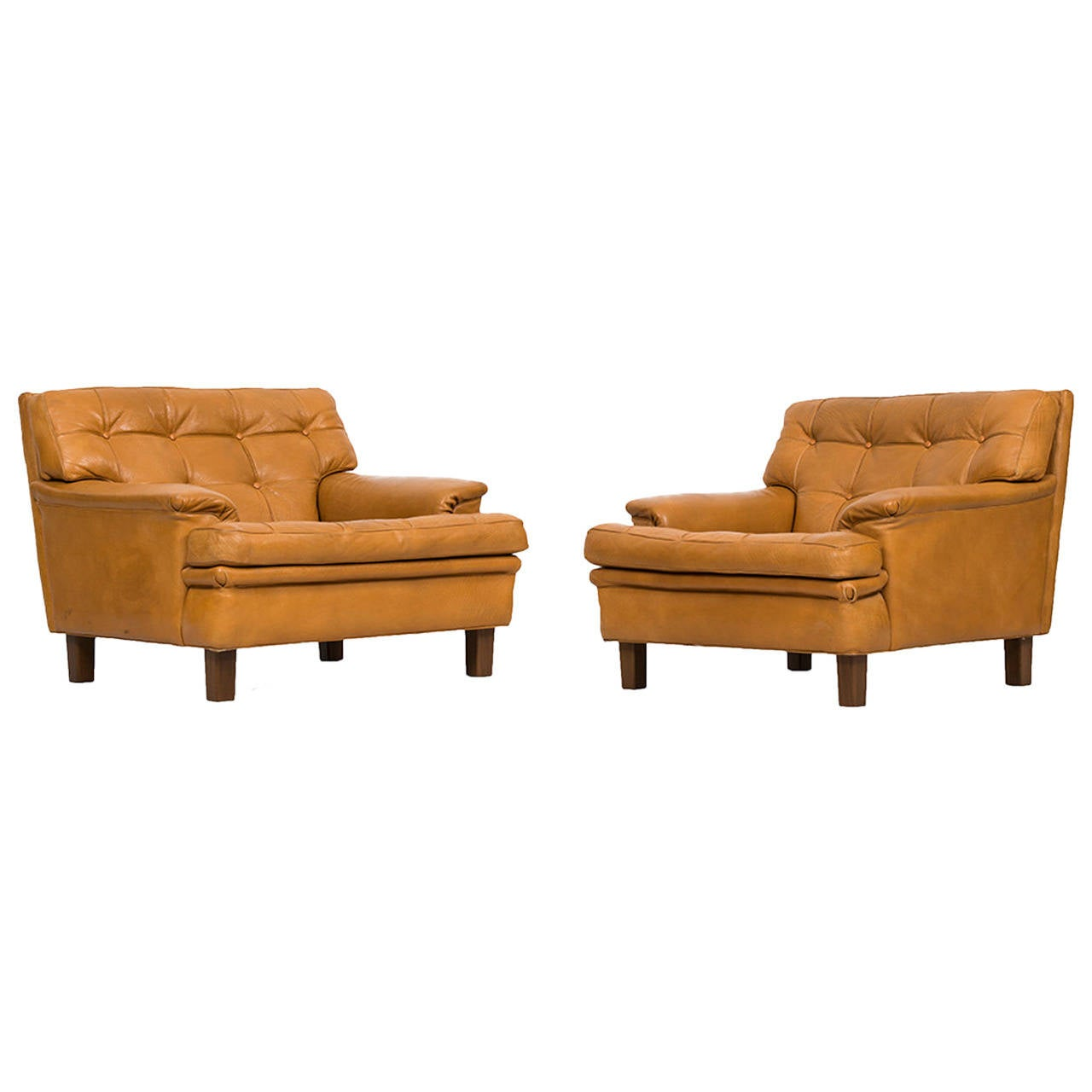 Arne Norell Easy Chairs, Model Merkur by Norell Ab in Sweden