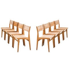 Poul Volther Dining Chairs Model 260 by Frem Rojle in Denmark