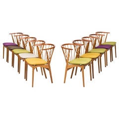 Helge Sibast Dining Chairs Model Nr Six by Sibast in Denmark