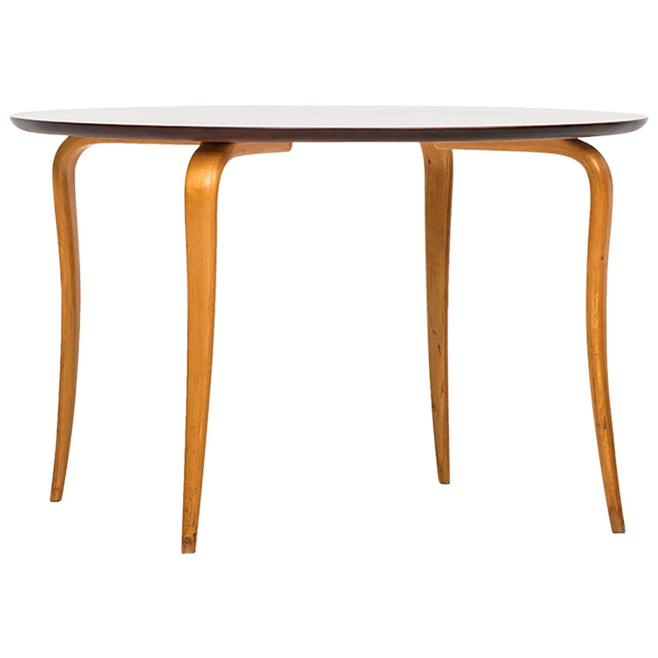 Sture B Ohlsson Coffee Table In Beech And Mahogany For Sale At 1stdibs