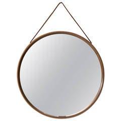 Uno and Östen Kristiansson Round Mirror by Luxus in Vittsjö, Sweden