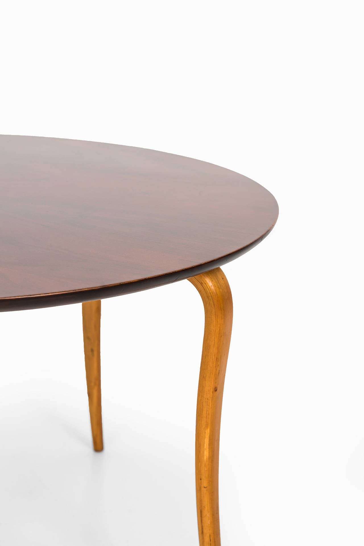 Sture b ohlsson coffee table in beech and mahogany for for Beech coffee table