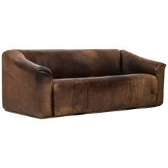 De Sede Sofa Model DS-47 in Thick Bullhide