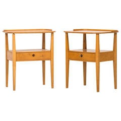 Pair of Freestanding Bedside Tables by Nordiska Kompaniet in Sweden