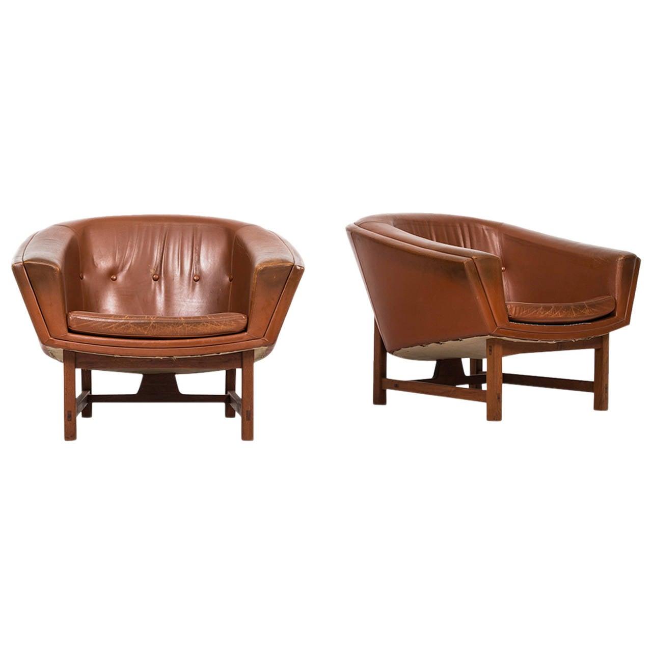 Lennart Bender Easy Chairs Model Corona by Ulferts in Sweden