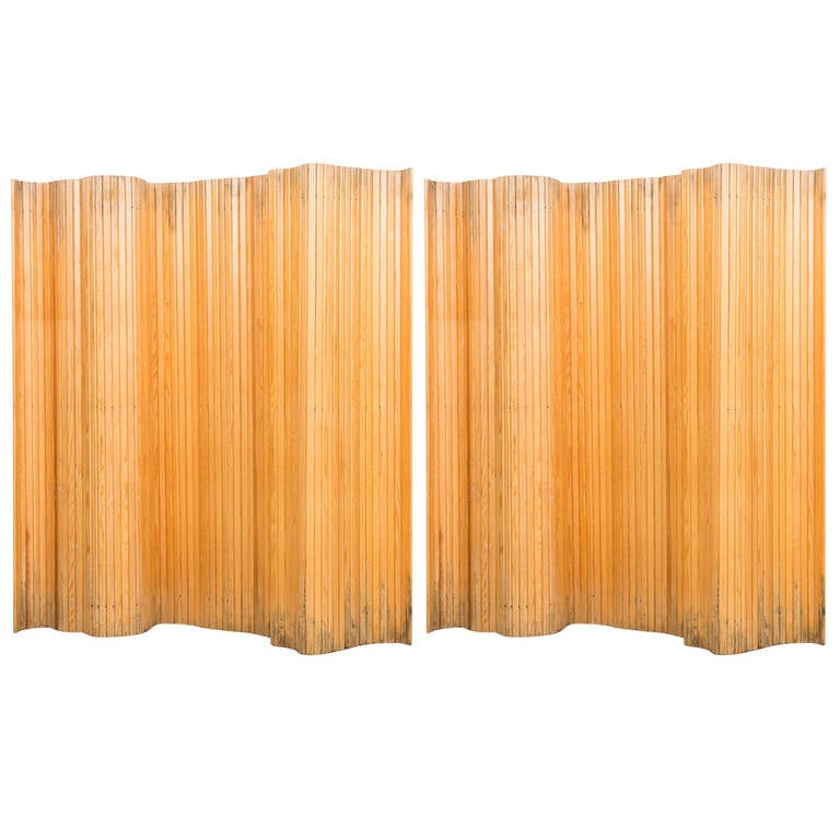 Alvar Aalto Screen in Pine Produced by Artek