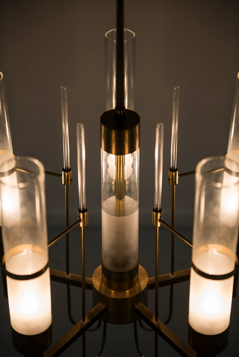 Mid-20th Century Gaetano Sciolari Ceiling Lamp Produced by Sciolari in Italy For Sale