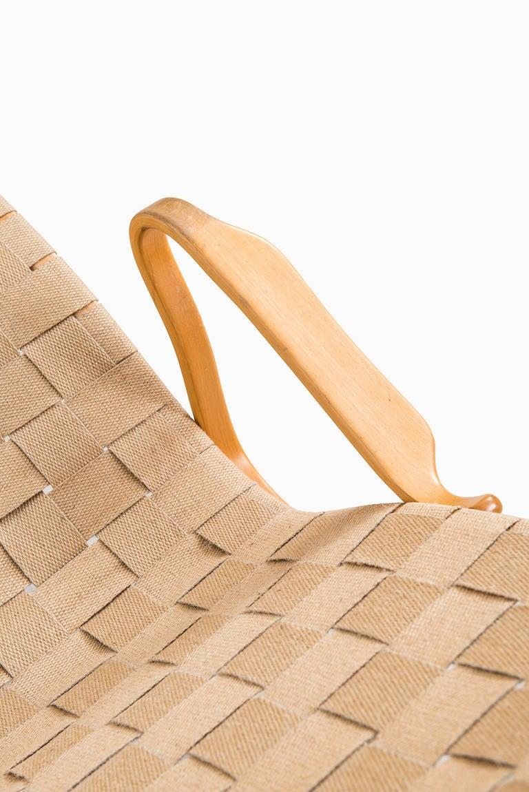 Birch Bruno Mathsson Pernilla Lounge Chair by Karl Mathsson in Sweden For Sale